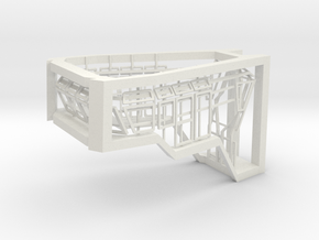 Window Frames 1/87 fit Harbor Tug Bridge  in White Natural Versatile Plastic