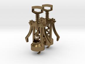 Corkscrew Earrings in Polished Bronze