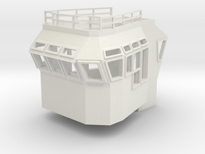 Bridge Superstructure 1/50 fits Harbor Tug  in White Natural Versatile Plastic