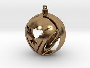Team Instinct Christmas Ornament Ball in Natural Brass