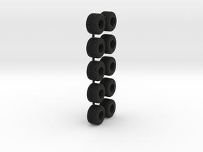 1/64 750/45R22.5 Tire in Black Natural Versatile Plastic
