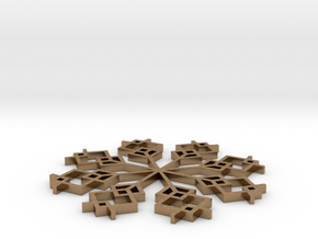 Snowflake 1 in Natural Brass