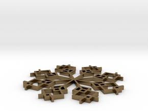 Snowflake 1 in Natural Bronze