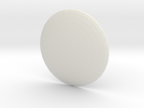 Round Custom Symbol Shield, 3mm in White Natural Versatile Plastic