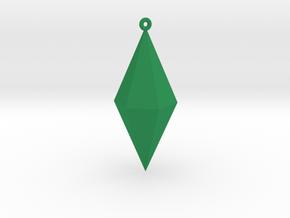 Plumbob Ornament in Green Processed Versatile Plastic