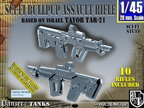 1/45 TAR-21 Tavor Sci-Fi Set002 in Smoothest Fine Detail Plastic