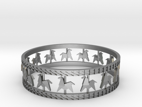 Carousel Band Bangle in Natural Silver: Small