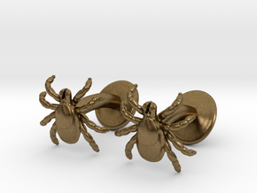 Tick Cufflinks - Nature Jewelry in Natural Bronze