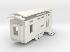 Tiny House #79 - 1:87 Scale Miniature in White Natural Versatile Plastic