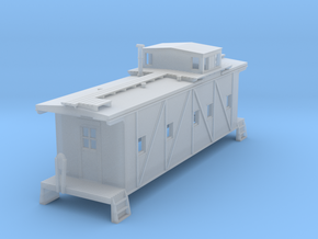 RI Outside Braced Caboose in Smoothest Fine Detail Plastic