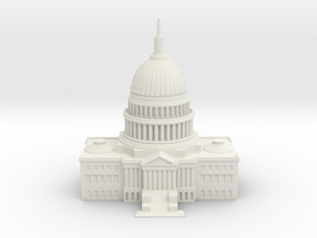 1/1000 U.S. Capitol Center in White Natural Versatile Plastic
