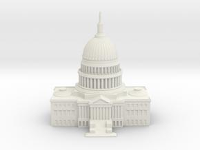 1/1000 U.S. Capitol Center in White Natural Versatile Plastic
