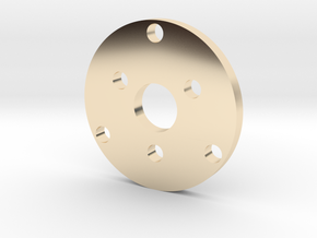 R type Small Chassis disk in 14K Yellow Gold