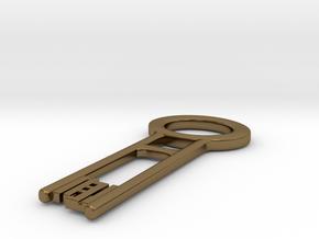 Davy Jones reversed happy key in Polished Bronze