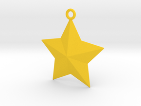 Arcade Star Ornament in Yellow Strong & Flexible Polished