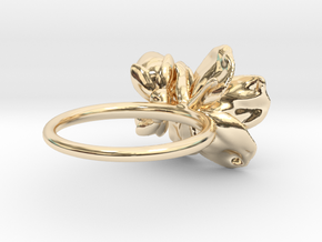 Petite Cherry Ring in 14k Gold Plated Brass: 5 / 49