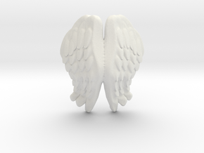 Printle Thing Angel Wings I - 1/24 in White Natural Versatile Plastic