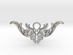 Baroque Motif 1 Pendant in Natural Silver