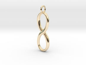 Earring infinity symbol in 14K Yellow Gold
