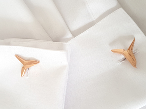 YOUNIVERSAL Asymetric, Cufflinks in 14k Rose Gold Plated Brass