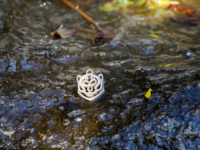Celtic Snow Leopard Head Pendant in Stainless Steel