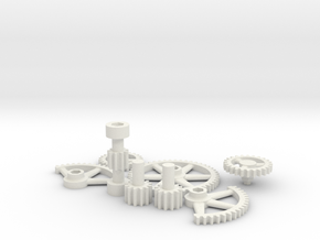 Dora's Gears in White Natural Versatile Plastic