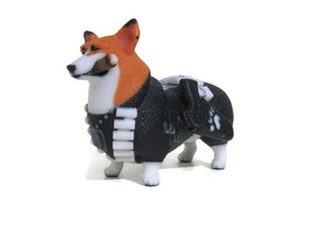 Punisher Corgi in Full Color Sandstone