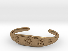 Pentagram Cuff in Natural Brass