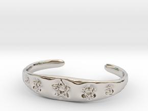 Pentagram Cuff in Platinum