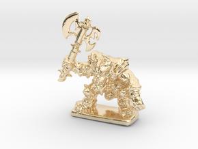 HeroQuest FrozenHorror 28mm heroic scale miniature in 14K Yellow Gold
