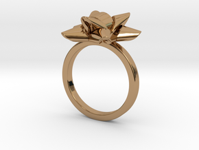 Gift Bow Ring in Polished Brass: 6 / 51.5