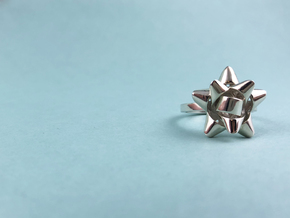 Gift Bow Ring in Polished Silver: 6 / 51.5