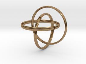 Interlocking rings in Natural Brass (Interlocking Parts)