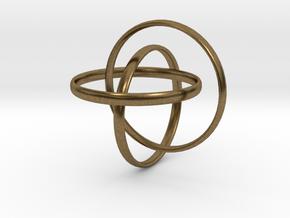 Interlocking rings in Natural Bronze (Interlocking Parts)