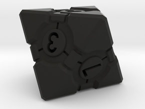Companion Cube D8 - Portal Dice in Black Natural Versatile Plastic: Small