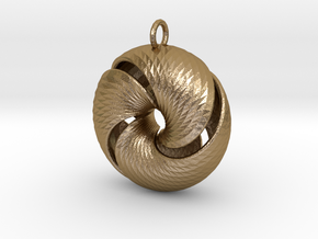 Fantasy-11 in Polished Gold Steel