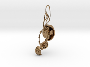 GLaDOS Earring in Natural Brass