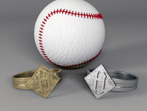 The seal of Hoboken Ring  in Polished Silver: 10.5 / 62.75