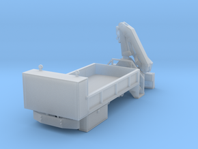 Rail Wheel Service Truck - Crane - Hyrail With Bum in Smooth Fine Detail Plastic