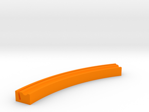 Curved Playing Card Rack in Orange Processed Versatile Plastic