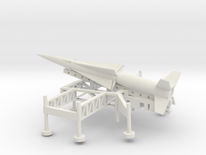 1/72 Scale Nike Ajax Laucher And Missile in White Natural Versatile Plastic