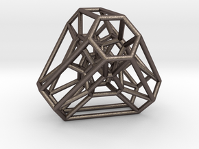 Graph Associahedron for K(4,1) in Polished Bronzed Silver Steel