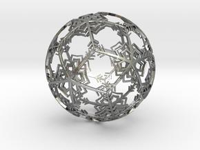 Snow Ornament in Natural Silver