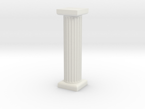 Pillar in White Natural Versatile Plastic