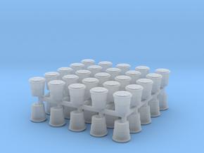 Crash Barrel N Scale 50 Pack in Smooth Fine Detail Plastic