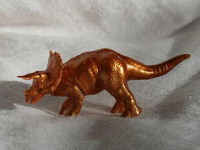 Triceratops Figurine in Smooth Fine Detail Plastic