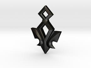 Kingdom Hearts Ends of the Earth Pendant in Matte Black Steel