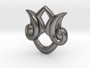 Kingdom Hearts Stormfall Pendant in Polished Nickel Steel