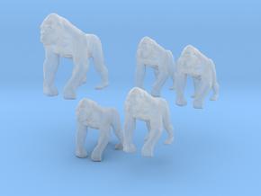 Gorillas - 1:160 (N scale) in Smoothest Fine Detail Plastic