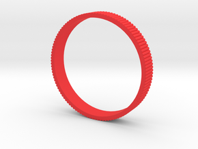 INGRANAGGI Bangle BOLD 1cm_zigrinatura thin in Red Strong & Flexible Polished